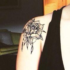 tatouage rose épaule - Recherche Google