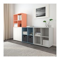 EKET Storage combination with feet - multicolor 2 - IKEA