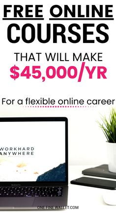 Best Free Online Courses to Start a New Career - Online Courses - Ideas of Online Courses - Not sure what are the best work from home jobs to suit you? Here are 5 online courses that you can try out for free! Earn Money From Home, Make Money Blogging, Make Money Online, How To Make Money, Earning Money, Best Online Courses, Free Courses, Free Classes Online, Short Courses