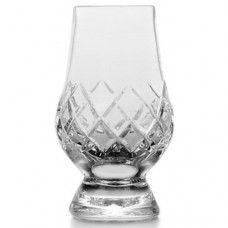 "Monogrammed Commercial Script /""H/"" Engraved Glencairn Crystal Scotch Whisky Glass"