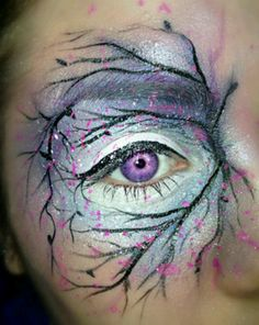 Makeup Art...cool, beautiful, sparkles.