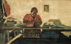 526: David Levine (American, 1926-2009), Garment Worker : Lot 526 watercolour