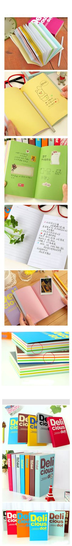 $3.89 1 PC Thickening White-collar Notebook Colorful Pages (Random Color) - BornPrettyStore.com