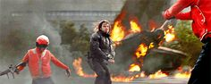 It's gonna be messy.. The Winter Soldier doesn't go around you, he goes through all obstacles