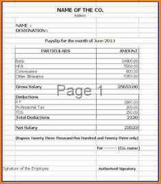 Image result for payslip template pdf  payslipp  Resume template free Sample resume Free resume