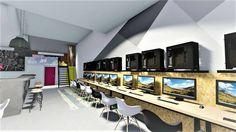 internet cafe, lounge cafe, playroom diakosmisi, sxediasmos, anakainisi internet cafe design