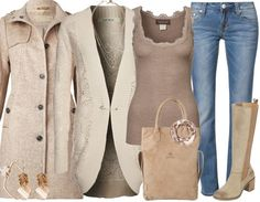 Beige - Casual Outfit - stylefruits.nl