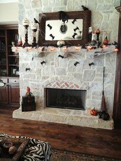kamin für halloween aus stein