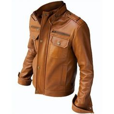 Men-brown-biker-leather-jacket-front-500x500