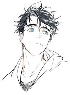 : 소넷 on character design anime art, drawings och mang Guy Drawing, Manga Drawing, Manga Art, Drawing Sketches, Art Drawings, Anime Art, Manga Anime, Drawing Faces, Drawing Tips