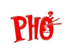 Pho text logo design