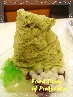 Matcha Green Tea Snow Ice  http://yumyumbites.blogspot.com/2012/06/another-tong-pak-fu-dessert-house.html