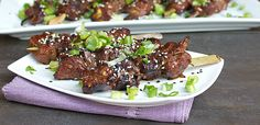 Asian Sesame Beef Skewers - marinade and grill recipe