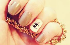 CHANEL NAIL TUTORIAL. | Easy, Elegant, Classic nail art for SHORT-MED NA...