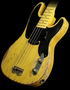 Used 2010 Nash Guitars PB-52 Electric Bass Guitar Relic Butterscotch Blonde
