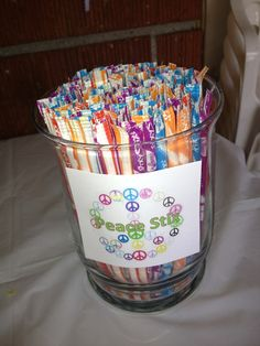 Peace Stix for peace birthday party