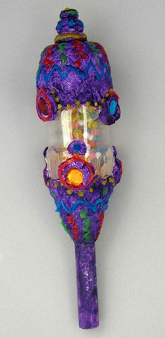Hands On Crafts for Kids Paper mache maraca. Cute Idea. looks like a great party activity or summer camp craft