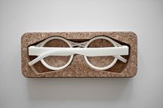 3D printed cork eyewear 'Oak and Dust', designed by Adrian Goegl, are customized to fit your face.
