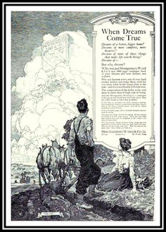 1912 'When Dreams Come True' - Montgomery Ward Catalog advertisement illustrated by Franklin Booth (carlylehold) by carlylehold (flickr) Tags: franklin booth pen ink drawing illustration picture haefner carlylehold 1912