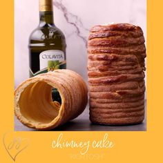 We discovered these unique cakes in the markets all around Israel, but their origins are from Hungary, where they a called Kürtőskalács or Chimney Cakes because they look like chimneys. They remind us of a hollowed-out babka, crispy on the outside, and soft on the inside and while you can use them to make the most outrageous ice cream sundae, they are super delicious simply coated in cinnamon and sugar. #shabbat #roshhashanah #cake Sukkot Recipes, Holiday Recipes, Non Dairy Desserts, Food Terms, Chimney Cake, Breakfast Recipes, Dessert Recipes, Unique Cakes, Recipe For Mom