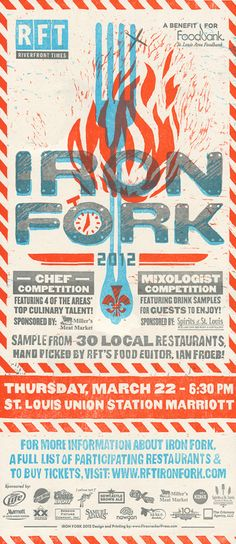 By Firecracker Press for River Front Time's event Iron Fork.