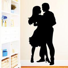 Wandtattoo Romantisches Tanzpaar - Lets Dance von wandtattoo-loft via dawanda.com