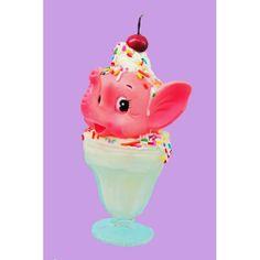 ice cream elephant print 8 x 12 YUMBO by boopsiedaisy on Etsy, $22.00
