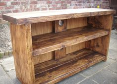 Large rustic tv stand by Redcottagefurniture on Etsy