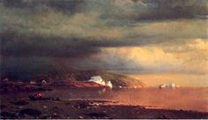 Near Cape St Johns Coast Of Labrador William Bradford William Bradford, Prince, Jasper Johns, Traditional Paintings, Original Art For Sale, A4 Poster, Vintage Artwork, Fishing Boats, Paintings For Sale