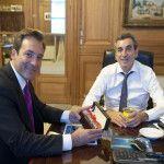 Randazzo recibió a Martín Soria y conversaron sobre la posibilidad de que el tren Neuquén Cipolletti llegue hasta el Alto Valle