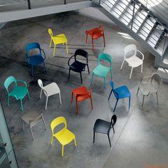 Gipsy - Chaise design en polypropylène