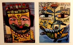 Two Jaber-paintings from their catalog Art Brut, Outsider Art, The Outsiders, Catalog, Paintings, Gallery, Paint, Roof Rack, Painting Art
