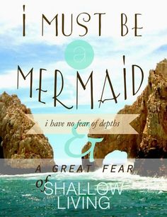 I must be a mermaid!