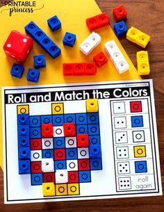 Fine Motor Games For Kindergarten Plus A Freebie Fine Motor Color Words Kindergarten, Pattern Worksheets For Kindergarten, Beginning Of Kindergarten, Kindergarten Books, Kindergarten Centers, Math Centers, Pre K Curriculum, First Grade Lessons, Life Skills Classroom