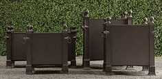 Image result for outdoor metal plant containers