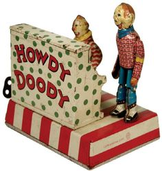 *HOWDY DOODY ~ Dancing and Clarabell Playing Piano Tin Wind-Up 1,653.13 dollars.