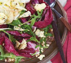 Radicchio, Blue Cheese and Pine Nut Salad - Annabel Langbein – Recipes Pine Nut Salad Recipe, Pine Nut Recipes, Honey Recipes, Chef Recipes, Salad Recipes, Cooking Recipes, Healthy Recipes, Easy Recipes, Big Salad