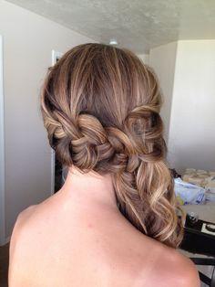 #alexcrabtreehairandmakeup wedding hairstyle updo sideswept style braid