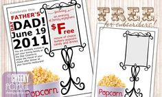 "If you're still in need of a plan for Father's Day, feel free to snag this free printable ""Movie Night"" flyer and plan a fun evening out with Dad! You can see how I personalized it above for a fun night out at my husband's favorite restaurant, then a movie with the family. Sssshhh, don't tell him"