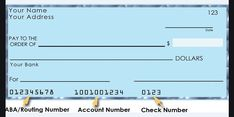 How to find a Check Routing Number - What is the purpose of ABA Routing Number. Your bank routing number is a nine-digit number to identify your bank Order Checks Online, Walmart Checks, Check Mail, Word Check, Invoice Template Word, Chase Bank, Jpmorgan Chase, Writing Software, Accounts Payable