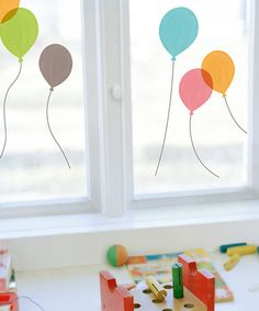 Look at this #zulilyfind! Balloon Window Cling Set by Nouvelles Images #zulilyfinds