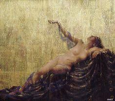 Richard Strauss's opera: Die Liebe der Danae (oil, gold paint on canvas)