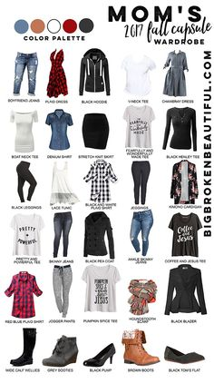 Great fall fashion ideas for moms! Add some great fall pieces to your 2017 fall capsule wardrobe