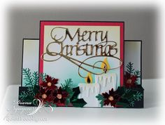 Diana Nguyen, Quietfire Design, Merry Christmas, Elizabeth Craft Designs