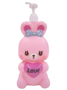 Super cute pink bunny soap dispenser from japanese brand Swimmer   #cute #kawaii #bunny #pink
