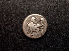 Thrace , Thassos ,500-463 BC ,Erotic Silver Stater ,Early Style . - http://coins.goshoppins.com/ancient-coins/thrace-thassos-500-463-bc-erotic-silver-stater-early-style/