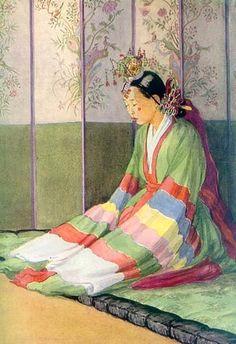 새 신부 Elizabeth Keith, of old Korea Korean Art, Asian Art, Korean Bride, Illustrator, Animation 3d, Oriental, Art Asiatique, Korean Traditional, Traditional Clothes