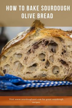 A tasteful olive bread, baked on sourdough, full of Mediterranean flavors. Except olives it also contains thyme and garlic. Sourdough Recipes, Sourdough Bread, Bread Recipes, Olive Bread, Olives, Garlic, Tasty, Baking, Bakken