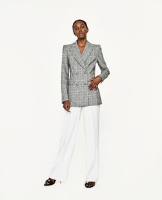 Image 4 of DOUBLE-BREASTED CHECKED JACKET from Zara