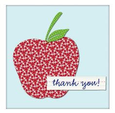 23 Free, Printable Cards to Say Thank You with Style: Apple Thank You Card by Cottage Industrialist